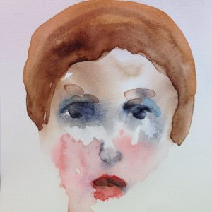 """Watercolor on paper 5""""x 5"""""""