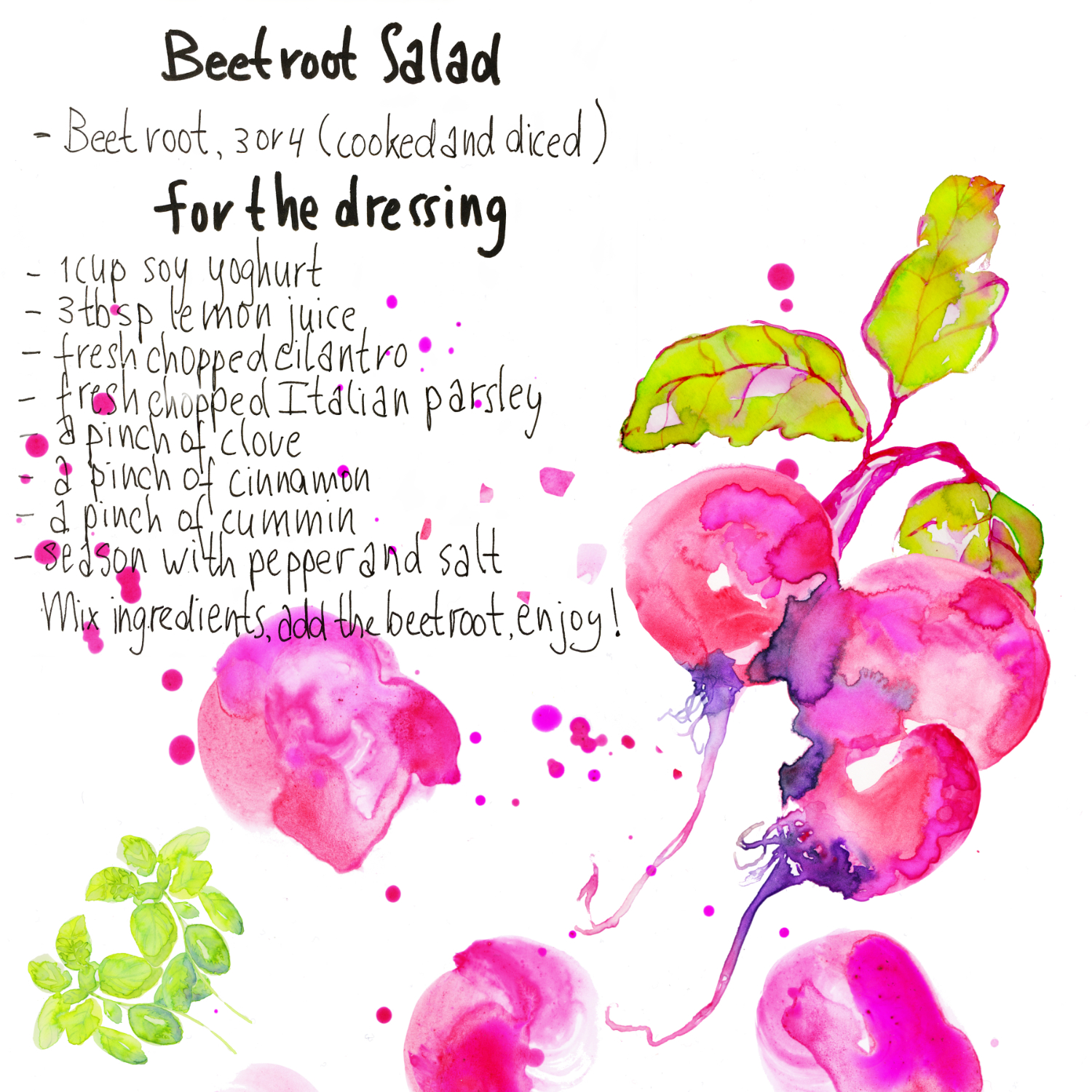 Vegan beet root salad recipe