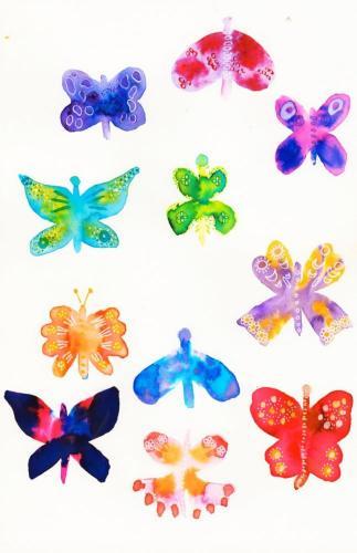 Mixed butterflies
