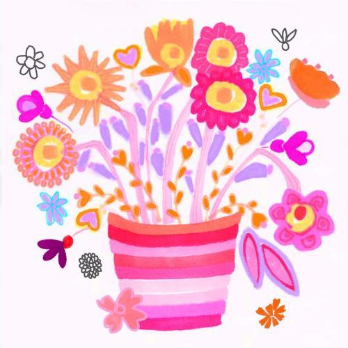 Stripey flowerpot